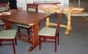 Кухонные и обеденные раскладные столы из дерева
