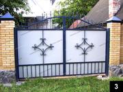 Простые кованые ворота ПВ-03