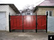 Простые кованые ворота ПВ-04