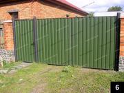 Простые кованые ворота ПВ-06