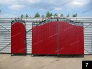 Простые кованые ворота ПВ-07
