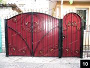 Простые кованые ворота ПВ-10