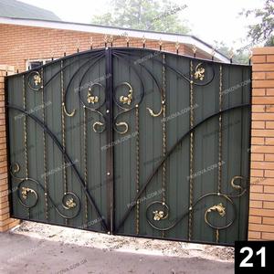 Кованые распашные ворота РВ-21