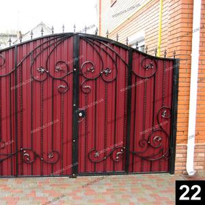 Кованые распашные ворота РВ-22
