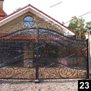 Кованые распашные ворота РВ-23