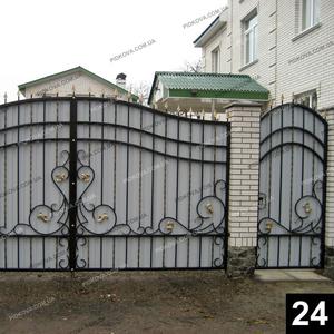 Кованые распашные ворота РВ-24