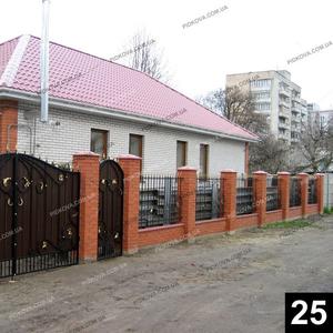 Кованые распашные ворота РВ-25