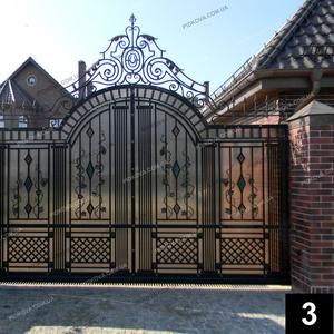 Кованые откатные ворота ОВ-03