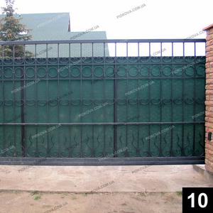 Кованые откатные ворота ОВ-10