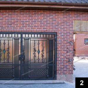 Кованые гаражные ворота ГВ-02