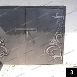 Кованые гаражные ворота ГВ-03