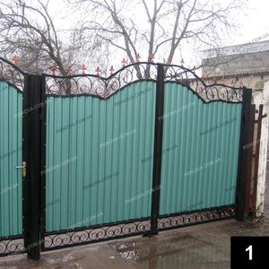 Простые кованые ворота ПВ-01