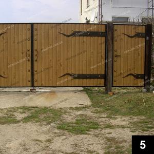 Простые кованые ворота ПВ-05